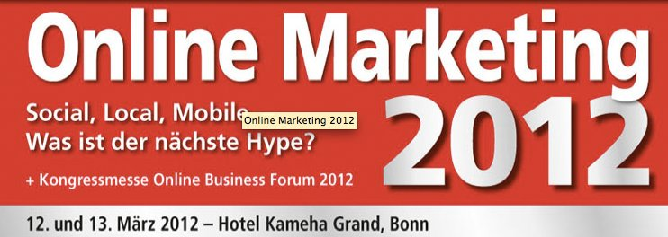 Online Marketing Kongress 2012