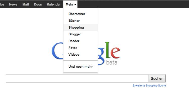google_shopping_menue