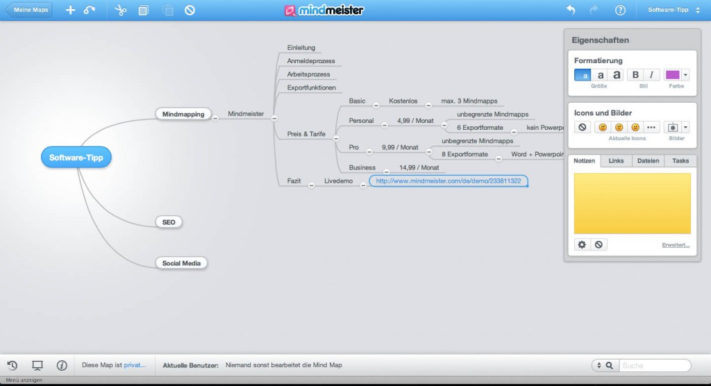 Mindmeister Online Mapping