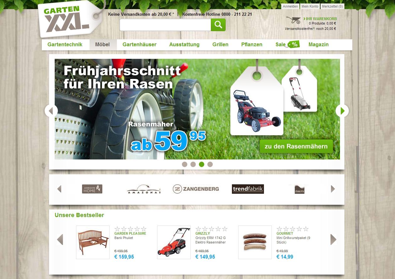 Plus startet Online-Shop gartenxxl.de ecommerce-vision.de ... on
