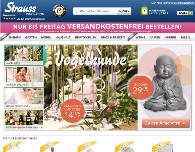 startpage analyse innovation strauss im test ecommerce ecommerce. Black Bedroom Furniture Sets. Home Design Ideas