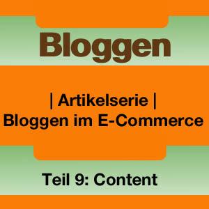 Bloggen im E-Commerce: Content is king
