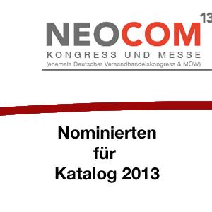 Nominierten für Katalog 2013 stehen fest