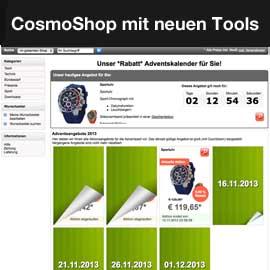 CosmoShop mit neuen Verkaufstools