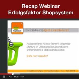Recap: Webinar – Erfolgsfaktor Shopsystem