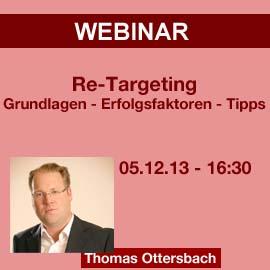 Webinar: Re-Targeting – Grundlagen, Einsatzmöglichkeiten und Tipps