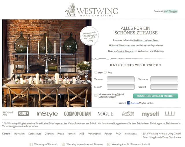 Westwing Macht 2013 Einen Umsatz Von 110 Millionen Euro Ecommerce