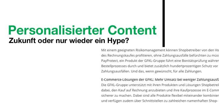 Personalisierter Content – Zukunft oder Hype?
