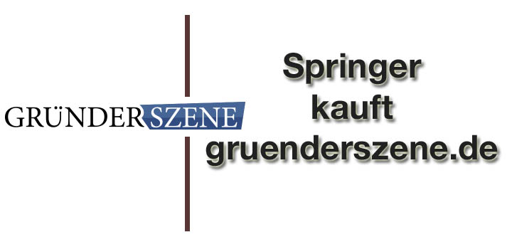 Start-up-Portal Gründerszene geht an Springer Verlag