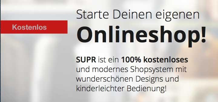 Kostenloser Shop von Supr für E-Commerce-Einsteiger
