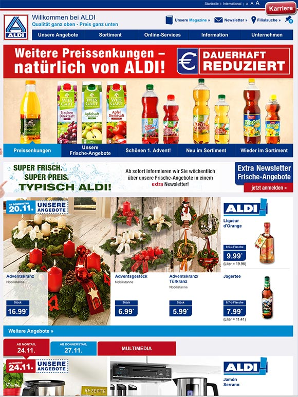 Discounter Im E Commerce Check Aldi Nord Ecommerce Visionde