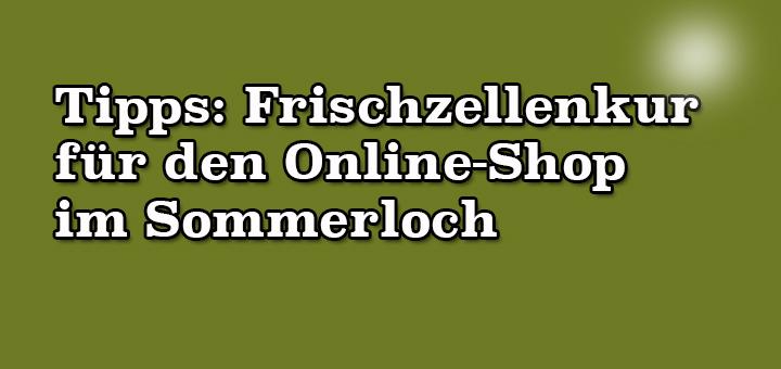 Tipps: Frischzellenkur für den Online-Shop im Sommerloch