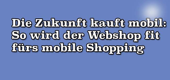 Die Zukunft kauft mobil: So wird der Webshop fit fürs mobile Shopping