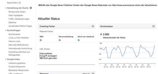 Google Search Console - Funktionalitäten