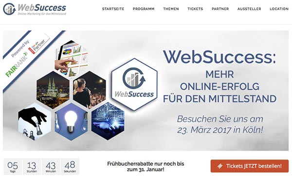 Websuccess 2017 am 23. März 2017 in Köln