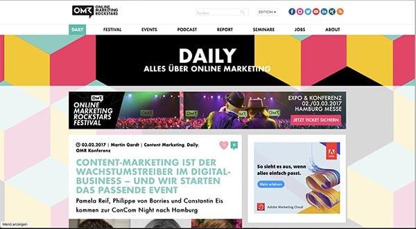 2. und 3. März – auf zum Online-Marketing Rockstars Festival