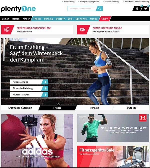 Plentyone.de - Sporthersteller