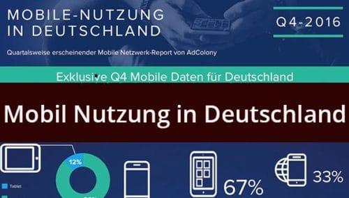 Alle Infos zum Thema mobile Nutzung in Deutschland
