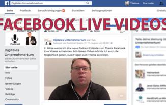 Warum Facebook Live Videos im E-Commerce sinnvoll sind! #081