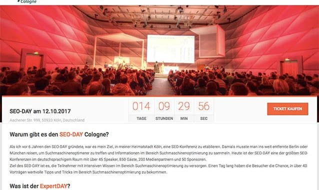 Heute: Live vom SEODAY 2017 in Köln