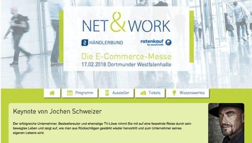 Neue Ecommerce-Messe: Net&Work findet am 17. Februar 2017 in Dortmund statt