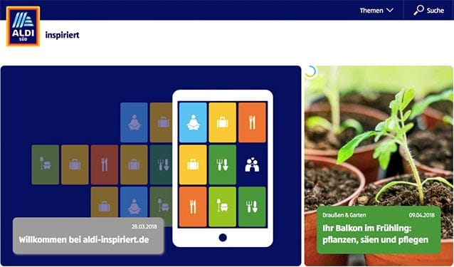 ALDI SÜD launcht Kundenplattform aldi-inspiriert.de
