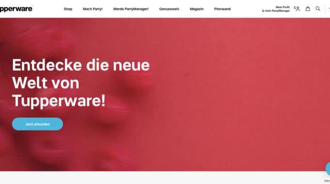 Online-Shop von Tupperware im Kurzcheck!